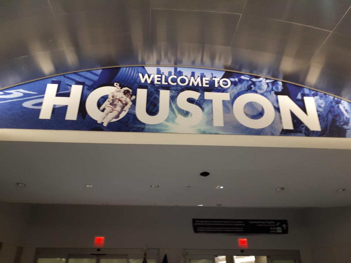 Aangekomen in Houston
